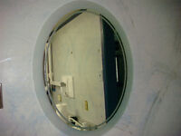 Oval Mirror with Frosted Border