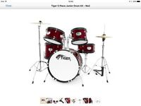 Tiger 5 Piece Junior Drum Kit- Used