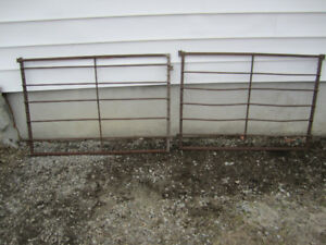 Rustic Garden Farm Fence solid steel antique