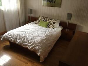 Gorgeous Mid Century Modern Teak Queen Bedroom Set