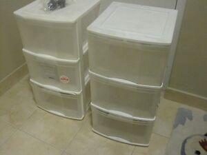 2   -3  drawer storage units