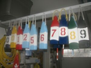 Lobster Buoys Civic Numbers