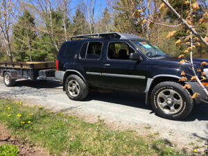 2002 Nissan XTerra Supercharge and trailer