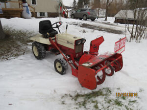 Gravely tractor mower and blower