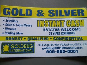GOLD, SILVER, COINS, BARS, JEWELLERY, STERLING, ROLEX  WATCHES