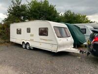 Bailey Senator Wyoming 4 Berth caravan FIXED BED, Twin axle VGC Awning !