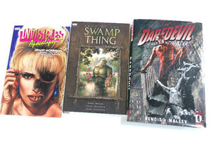 Graphic novels comics. Invisibles Daredevil Swamp Thing