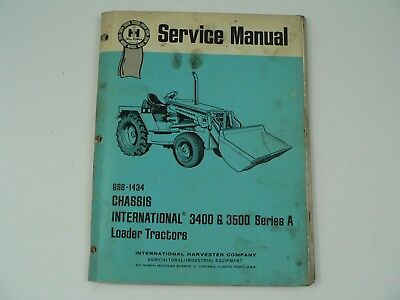 International Service Manual Chassis 3400 3500 Series A Loader Tractors Backhoe
