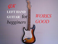 GK LEFT HANDED ELECTRIC GUITAR,  GREAT FOR BEGGINERS.