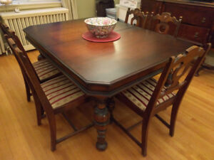 Antique Dining Room Set with China Cabinet and Sideboard