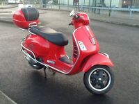 Vespa Gts 300 super scooter, 12 plate, may deliver