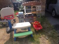 DOUBLE STROLLER, CRIB, PICNIC TABLE