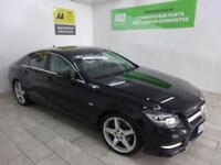 BLACK MERCEDES-BENZ CLS CLASS 3.0 CLS350 CDI SPORT AMG ***from £382 per month***