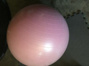 Yoga ball with weight