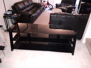 Glass tv stand 3 levels