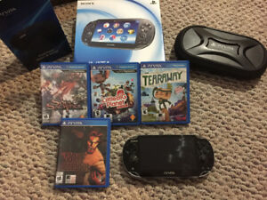 PlayStation vita console and extras