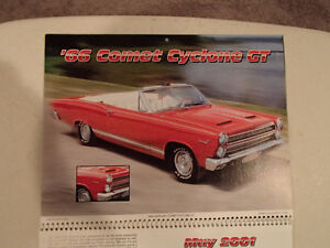 New 2001 MEMORABLE MUSCLE CARS 12 Month CALENDAR. Issued by APC. Sarnia Sarnia Area image 6
