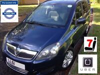 PCO CARS FOR HIRE / RENT / UBER READY £100 PER WEEK / ZAFIRA 7 SEATER CALL MOHAMMED OPEN 7 DAYS