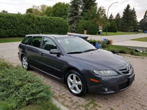 2007 MAZDA 6 WAGON, 5SP (RARE)! LOW KMS ONLY 125K, NEW SAFETY!
