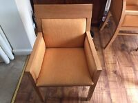4 wooden and upholstered chair