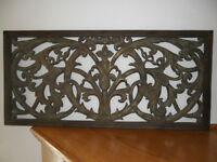 Imported Fine Indonesian Carved Wood Wall Hanging