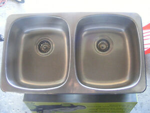 Kitchen Double bowl drop-in Stainless Steel Sink