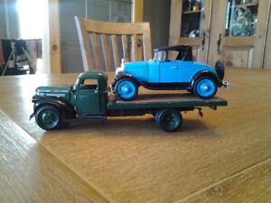 Petit camion Chevrolet vert & Chevrolet bleue (collection)