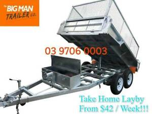 8×5 GALVANISED HYDRAULIC TIPPING TRAILER 3.5T ATM WITH CAGE Carrum Downs Frankston Area Preview