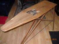 """1920s Antique J. R. CLARK RID - JID - 55"""" WOOD IRONING BOARD"""