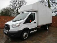 FORD TRANSIT 350 L4 LUTON LWB 125 BHP 13 FT BODY TAIL LIFT 3 SEATS