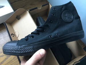Black High Top Converse - NEVER WORN