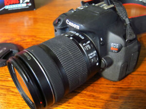 Canon t5i with 18-135 mm. STM lens