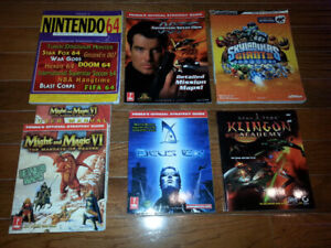 Strategy Guides for N64 PS1 PS2 360 PC