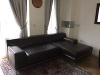 IKEA Leather corner sofa L Shaped