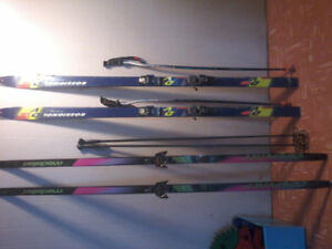 Down hill and cross country skis