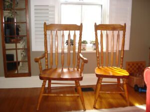 Canadiana Dinning Room Chairs