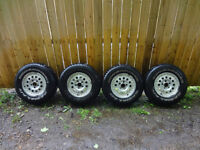 P235/75 R15 m+s Rims and Tires