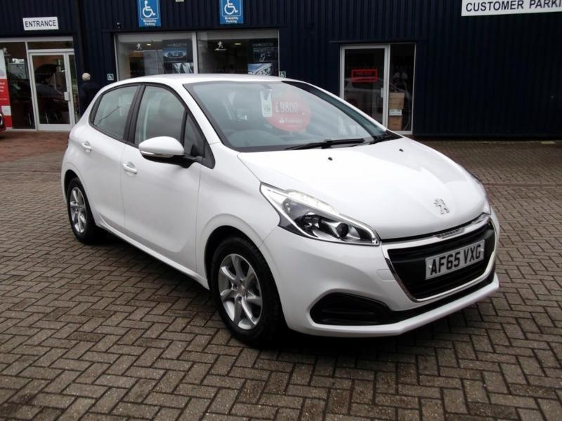 2015 peugeot 208 208 1 0 puretech active 5dr hatchback petrol white manual in st neots. Black Bedroom Furniture Sets. Home Design Ideas