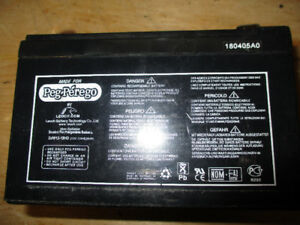 """Like New"" Peg Perego 12V Replacement Battery (For Ride-On Toys)"