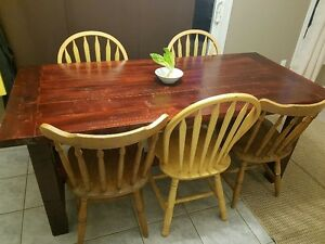 New Rustic Harvest style dining table $600.oo