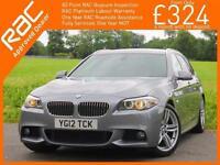 2012 BMW 5 Series 520d Turbo Diesel M Sport Auto Estate Sat Nav Bluetooth Full L