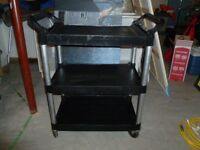 2 Rubbermaid Restaurant Bus Cart