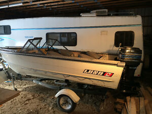 16' Lund boat and trailer