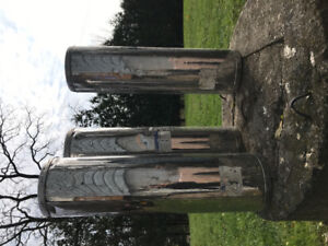 """Stainless steel chimney pipes 6"""""""