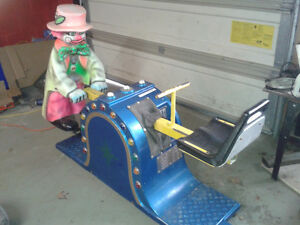 VINTAGE arcade CLOWN RIDE...everything works