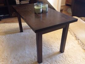 Coffee table - Wood with dark finish - Ready for collection from Bar Hill