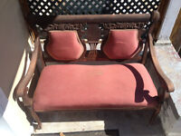 Antique Settee (delivery available)