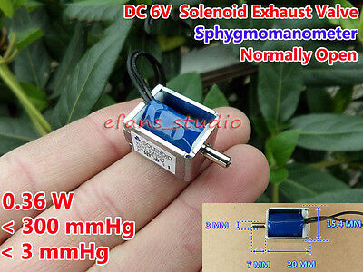 6v Dc Small Mini Electric Dc Solenoid Valve Exhaust Valve Blood Pressure Monitor