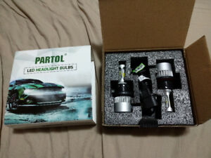 Partol S2 LED H13 Low/High Beam Auto Car LED Headlight 8000LM