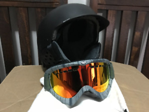 Snowboard Helmet and Goggles